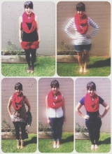 5 ways to wear a red infinityscarf